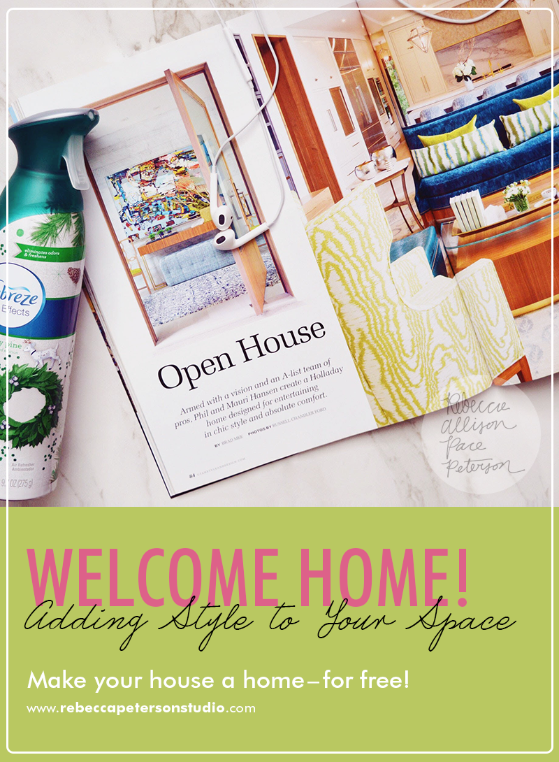 You don't have to spend a ton of money to make your house feel homey! Check out these easy-to-use ideas from www.rebeccapetersonstudio.com