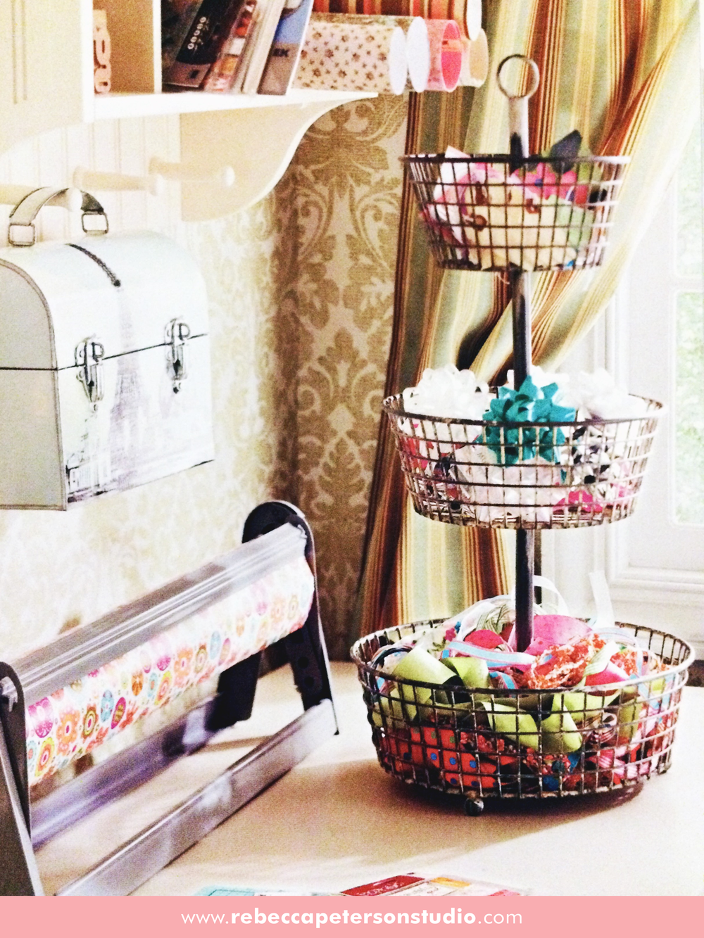 I love using old things for new purposes. This fruit tray works perfectly as a craft organizer.