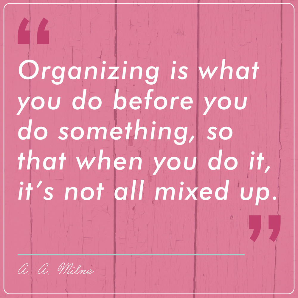 You can be organized AND creative! My best advice for getting things done.