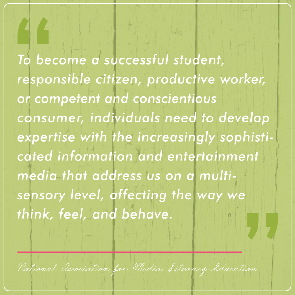 Learn about the importance of Media Literacy | www.rebeccapetersonstudio.com
