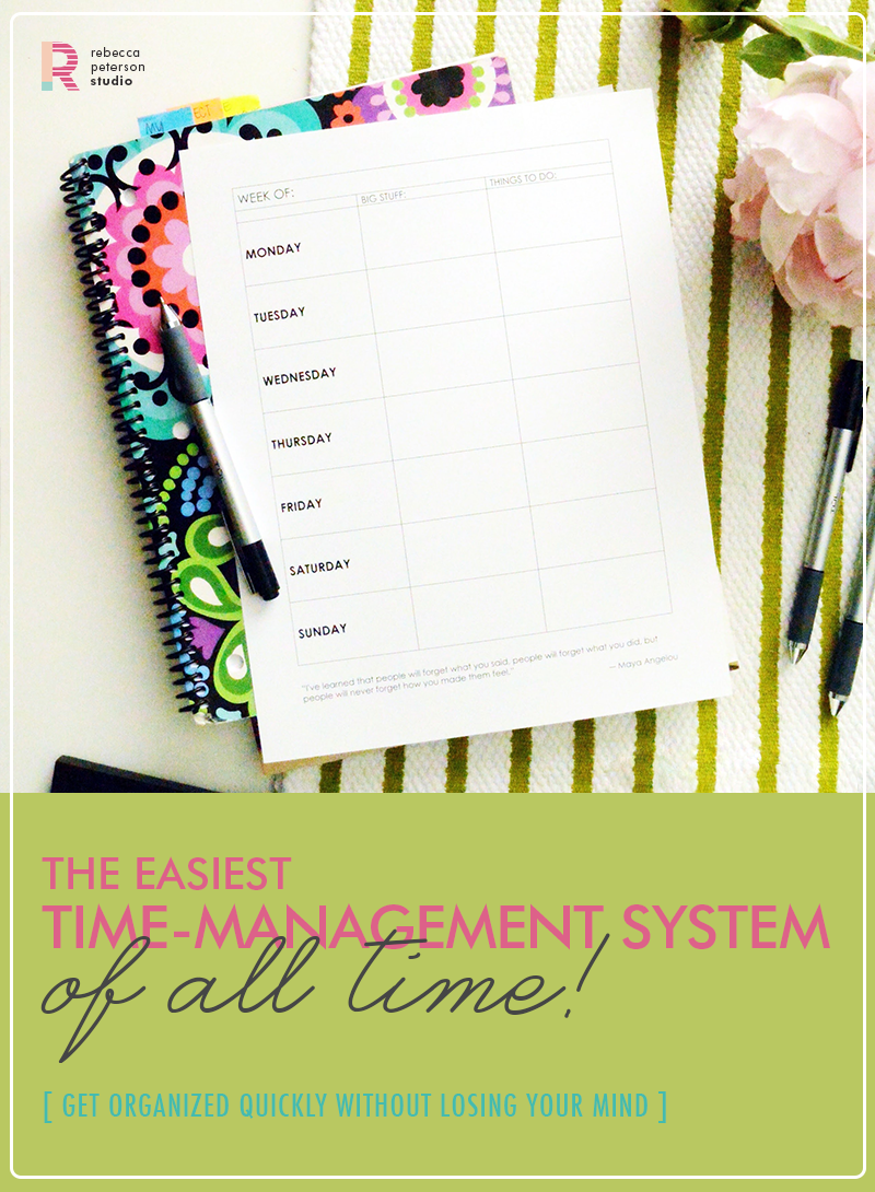 The easiest, simplest way to get organized and get stuff done! rebeccapetersonstudio.com