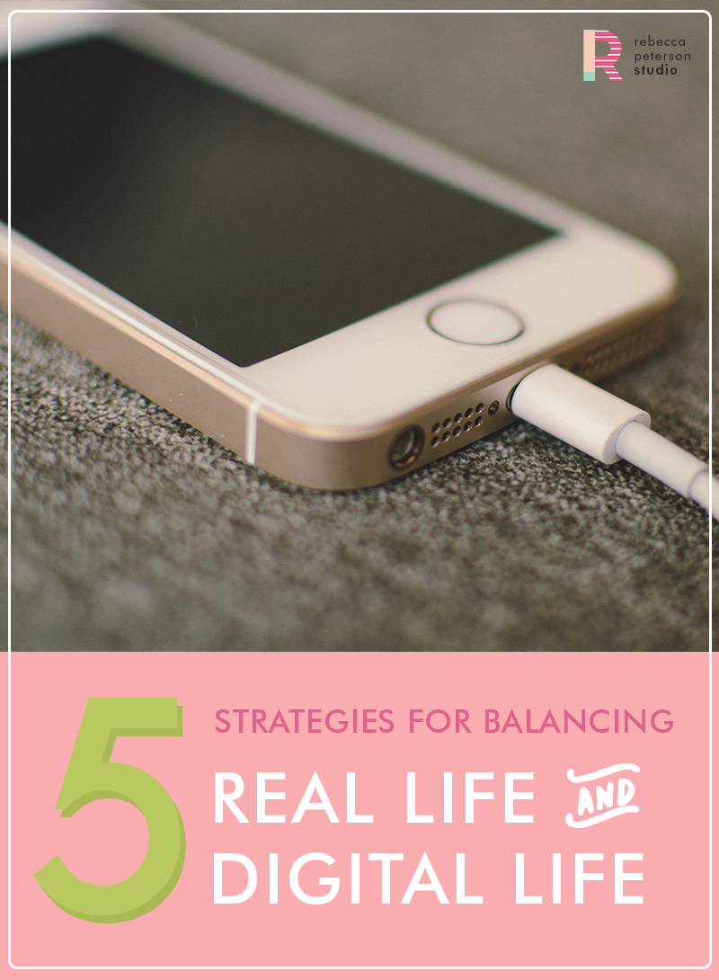 Avoid mindlessly consuming media! Find ways to balance your online and offline life. | via rebeccapetersonstudio.com