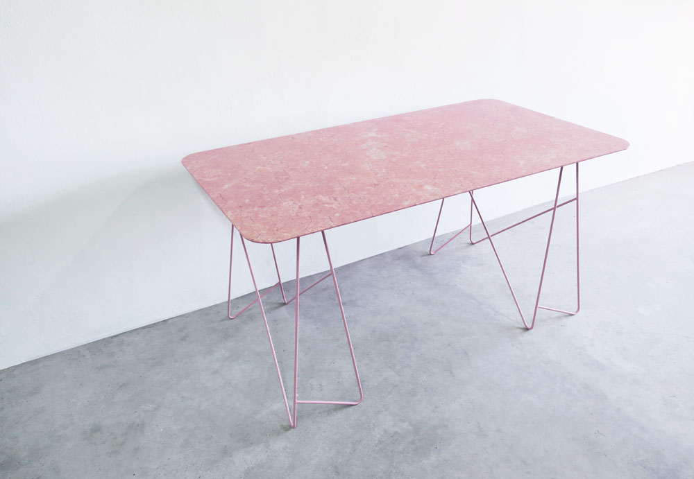 bordbord x forthecommongoods pink table