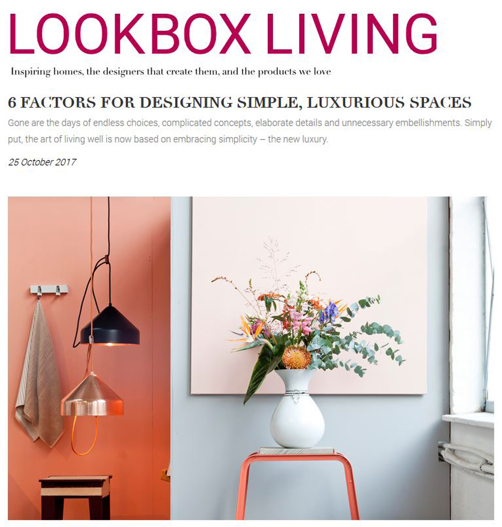 Lookboxliving Online Article - 25 October 2017