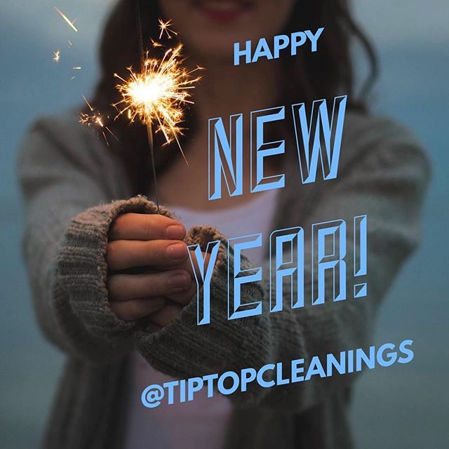 Happy New Year from all of us at @tiptopcleanings !!! 🎉😊