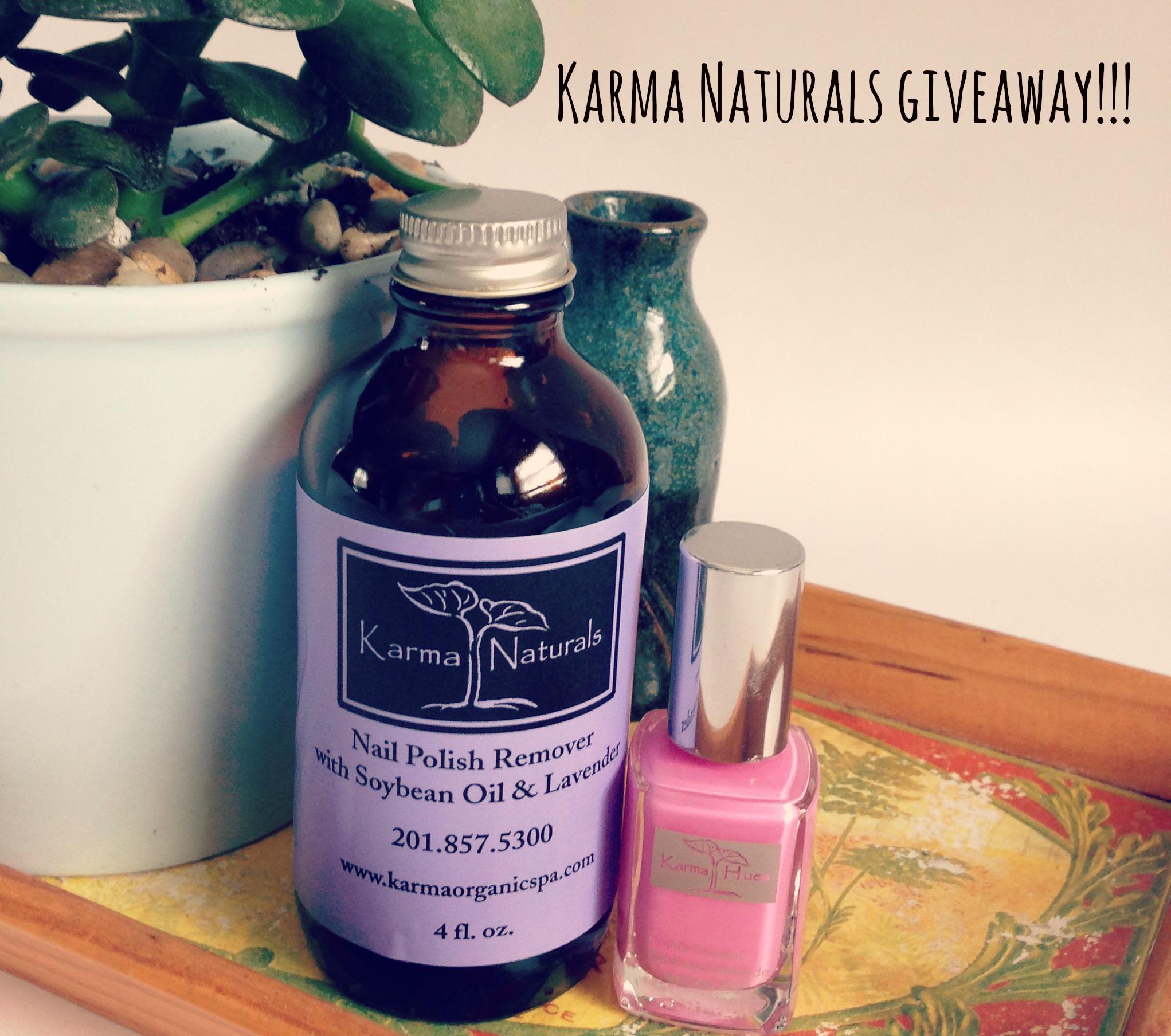 karma naturals giveaway