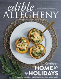 Front cover and feature of edible Allegheny - December 2017/January 2018