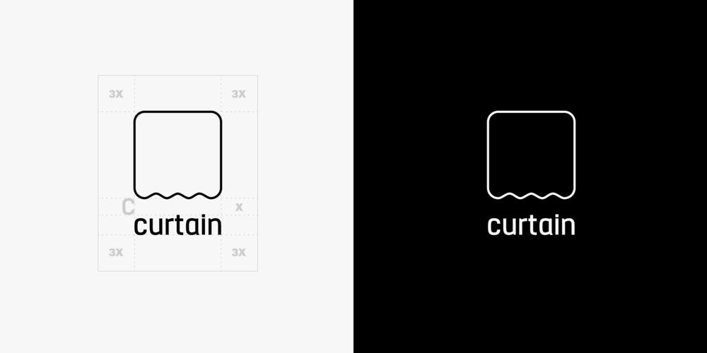 Curtain Logo (Vertical Option)