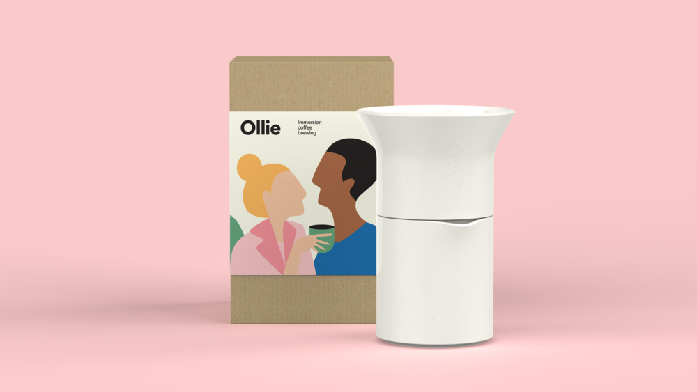 This early packaging concept focused on the social aspect of coffee drinking.