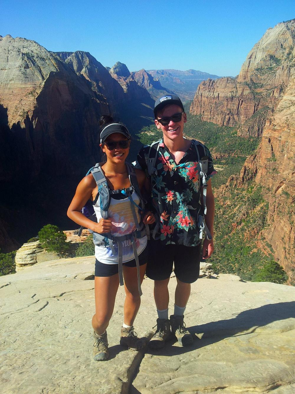 Me and Clark at the top of Angel's Landing!
