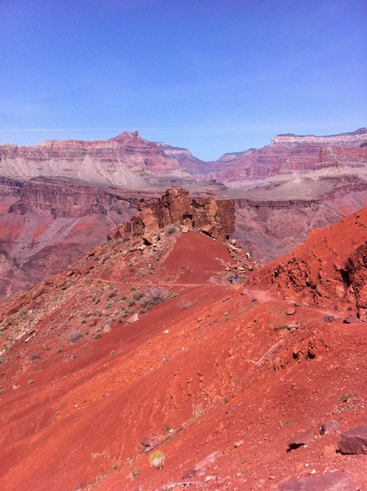 We hiked through a bright red section of the trail