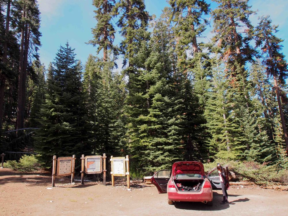 Parked at Marvin Pass Trailhead
