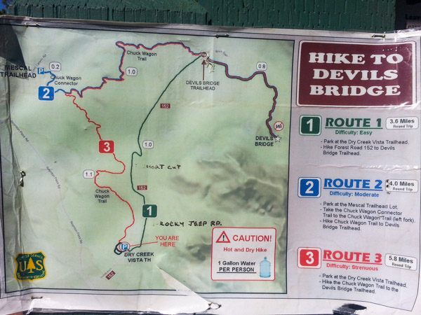 Devil's Bridge Trail Map