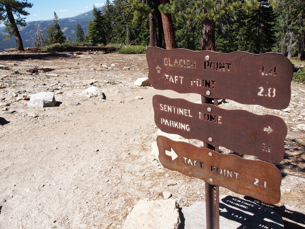 The Sentinel Dome hike is often done as a loop with Taft Point