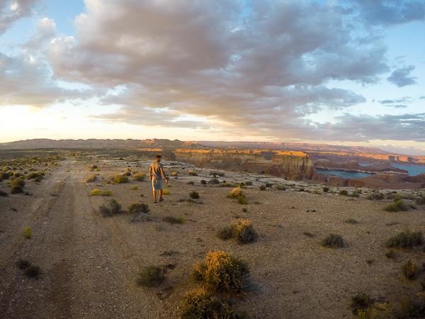 Hiking along the main dirt road