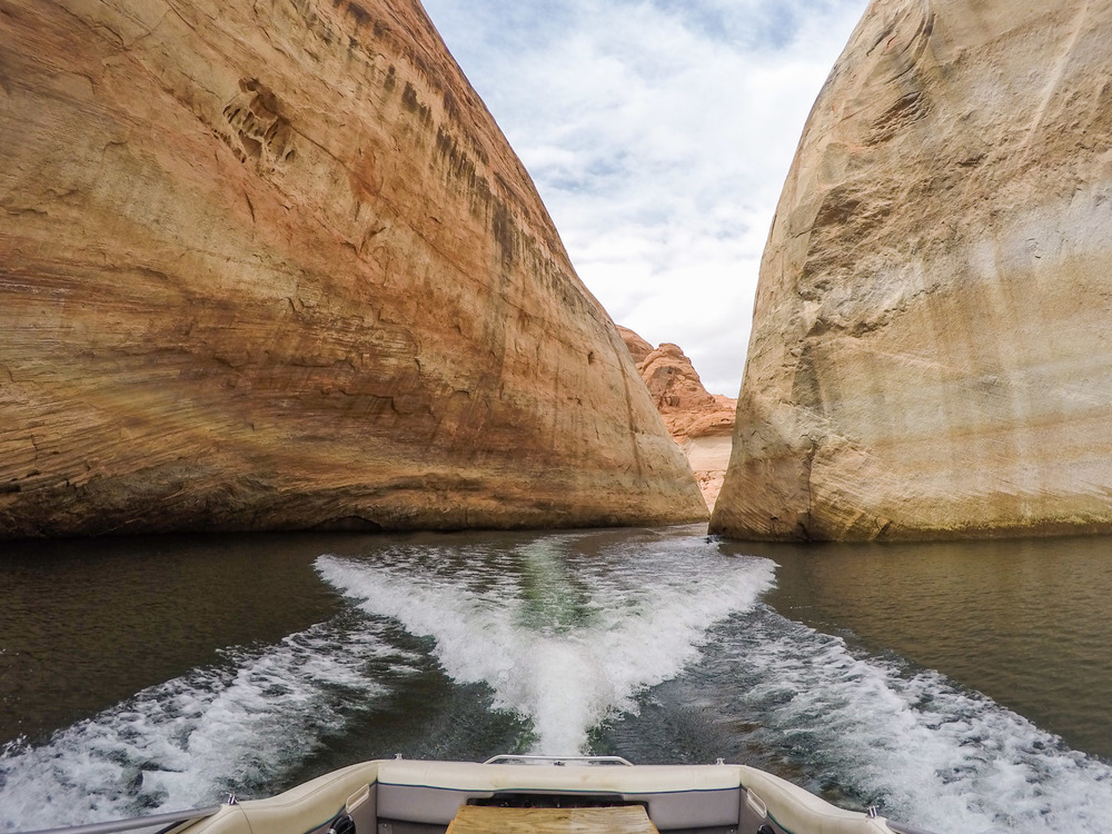 Love boating through these narrow canyons!