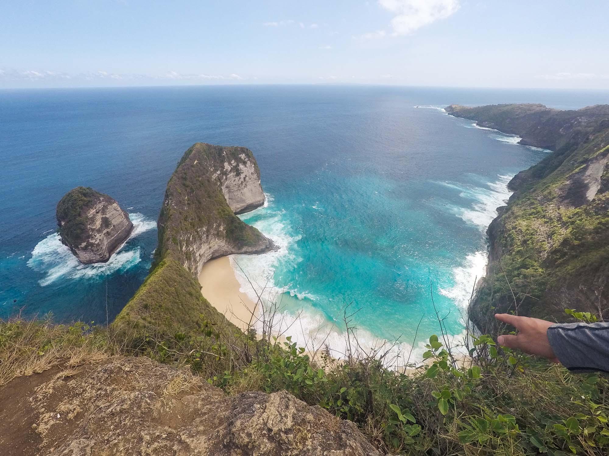 Kelingking Secret Point Nusa Penida Island Bali Indonesia