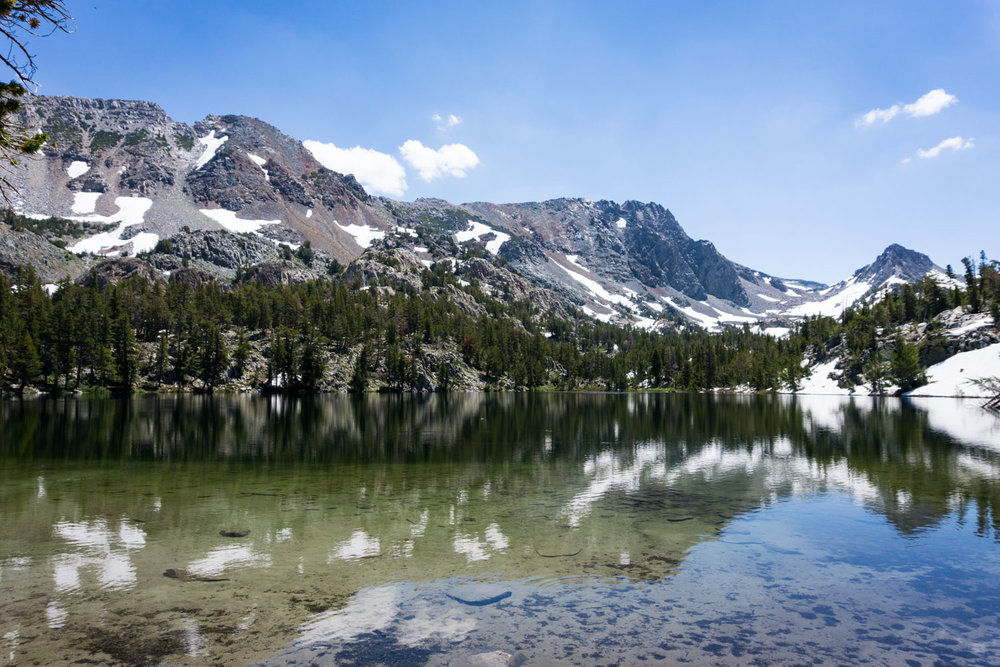 Skelton Lake (9921 ft), only about 1.75 miles from the trailhead