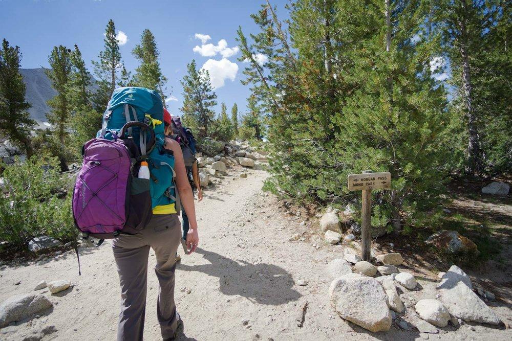 Heading left away from Mono Pass