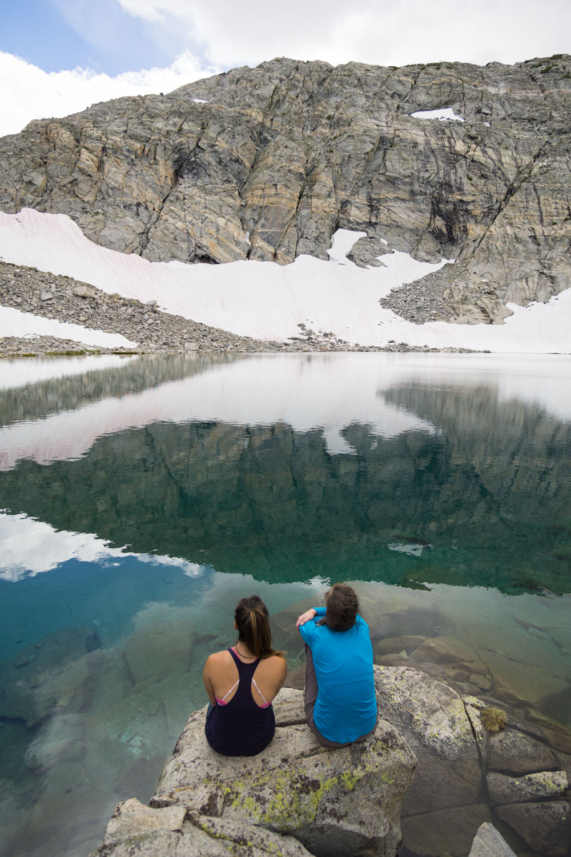 The breathtaking color of Gem Lake