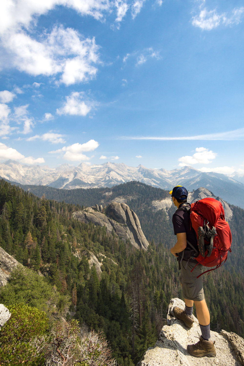 Looking out to the Great Western Divide. Can't believe we'll be hiking over those mountains!