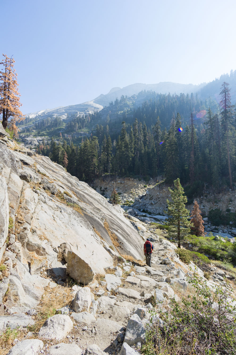 Backpacking the high sierra trail over buck creek