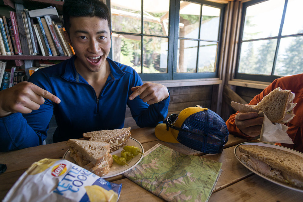 Eating at bearpaw was a highlight on our HST backpacking trip