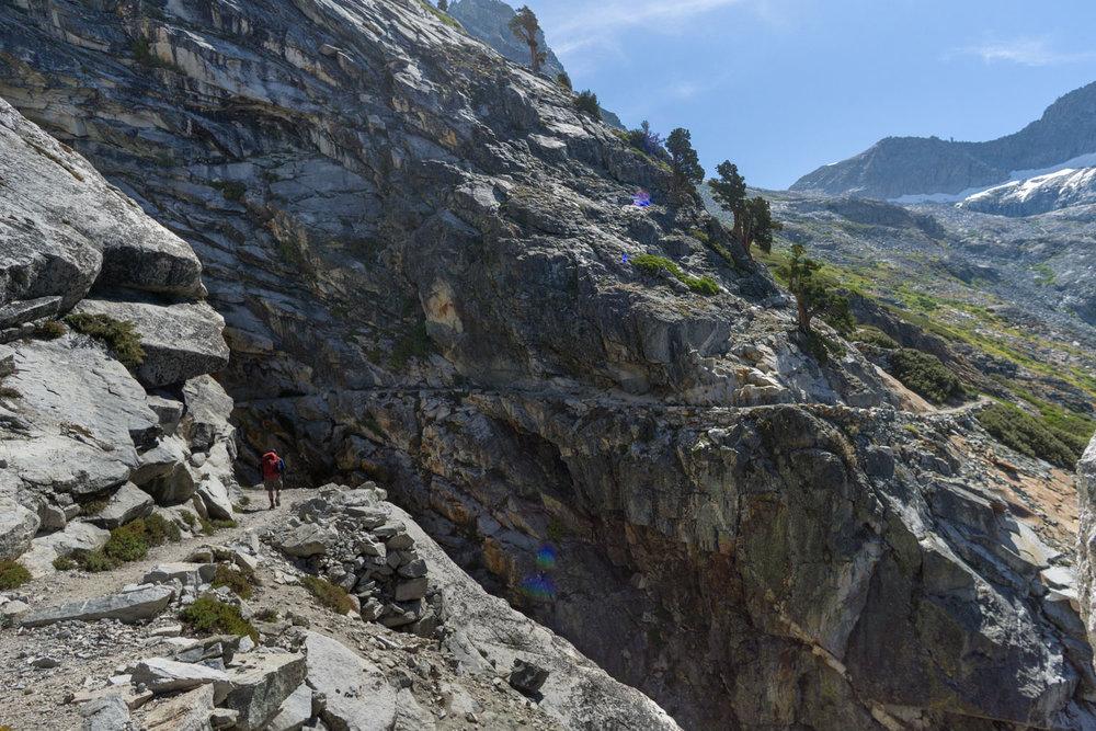 Heading up to precipice lake from hamilton lake
