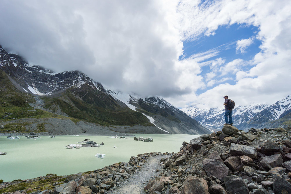 Looking out over Hooker Lake