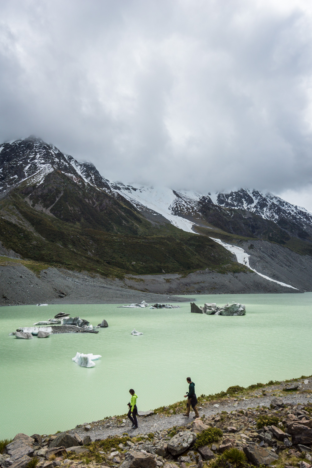 Hiking the hooker valley track in Aoraki / Mt. Cook