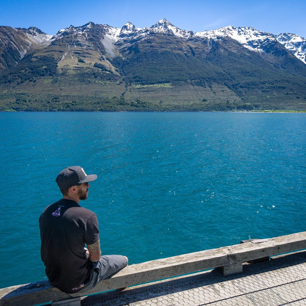 Glenorchy wharf on our south island road trip