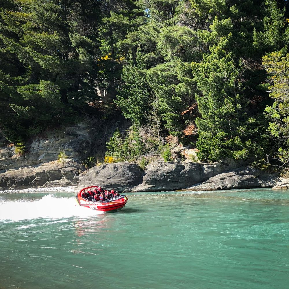 Adventure activities in Queenstown - jetboating the shotover canyon