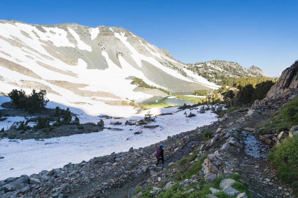 hiking mammoth lakes area