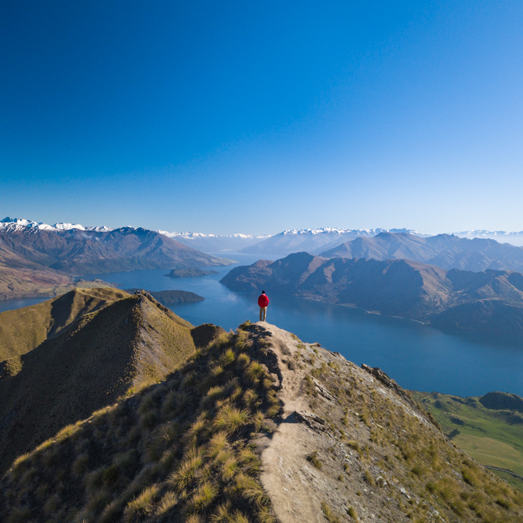 Hiking roys peak wanaka new zealand