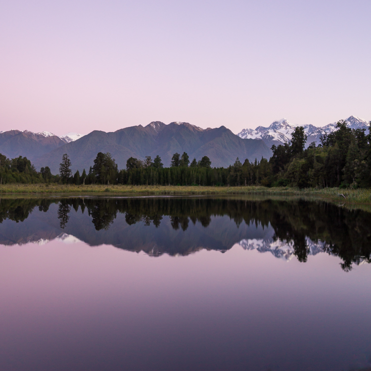 Gorgeous Lake Matheson reflections