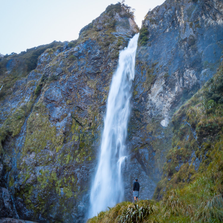 Devil's Punchbowl Falls in Arthur's Pass National Park