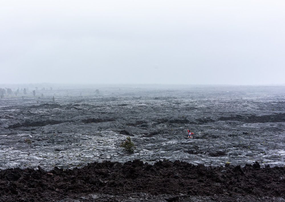 The vast field of cooled lava