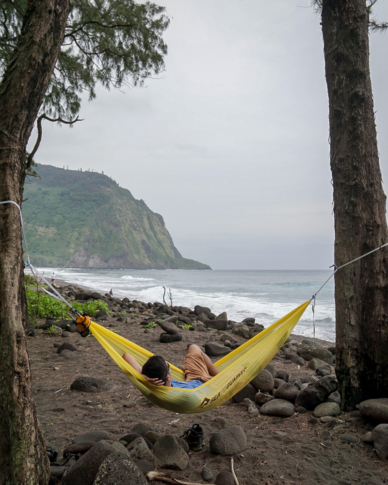 Enjoying the coastal views in Waipio Valley, Hawaii