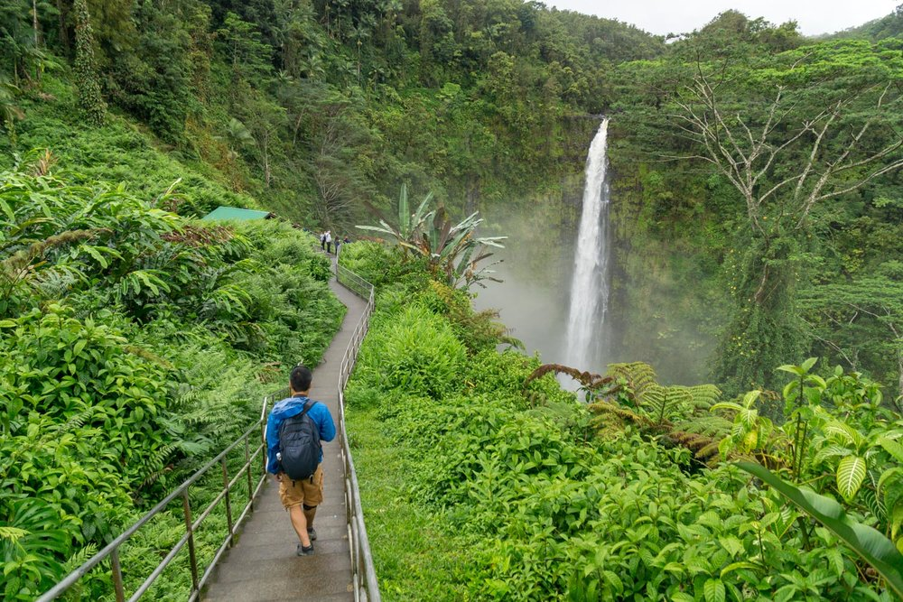 Our first glimpse of Akaka Falls