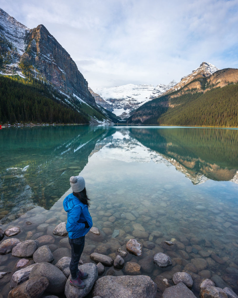 Early morning reflections at Lake Louise