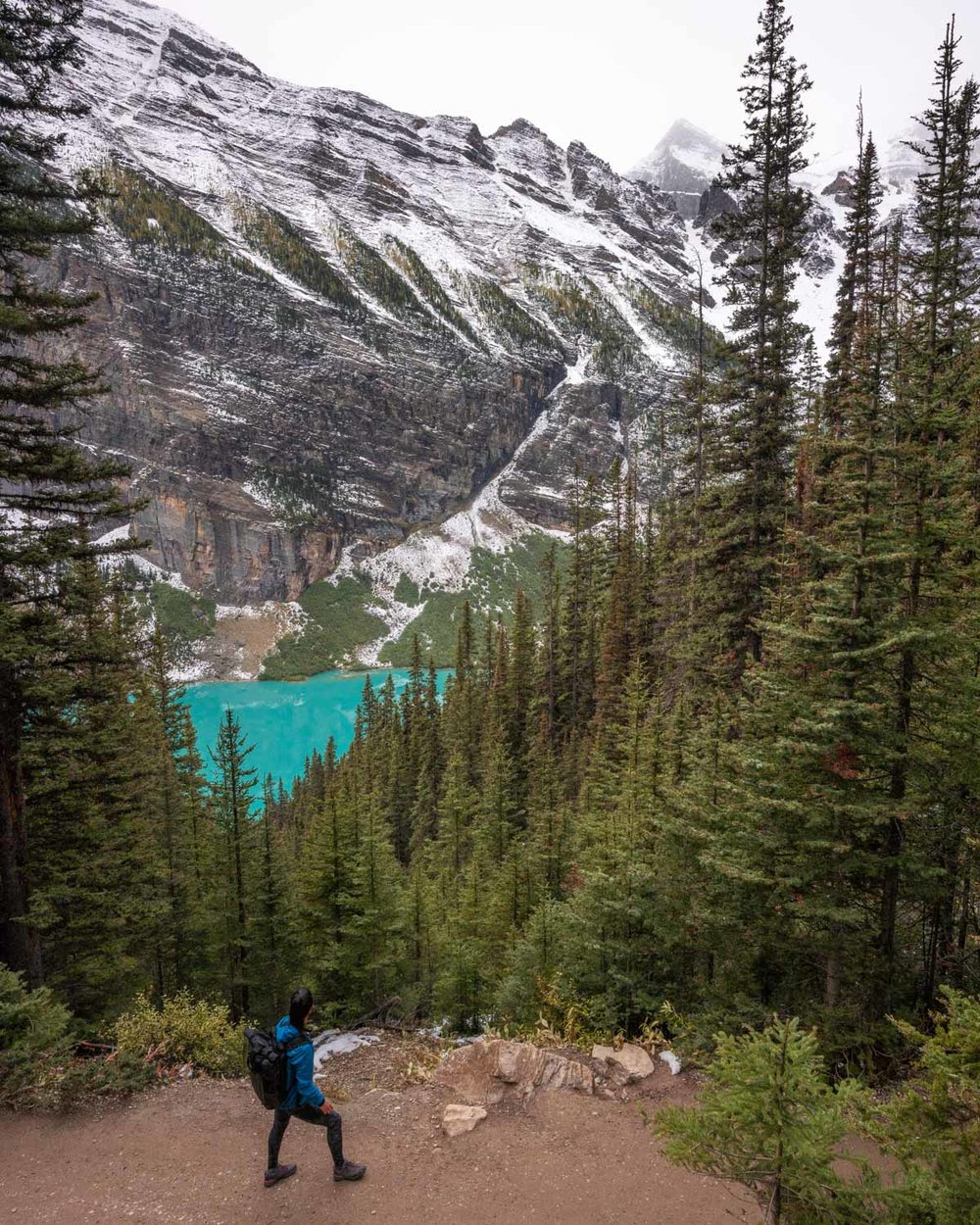 Looking down on Lake Louise