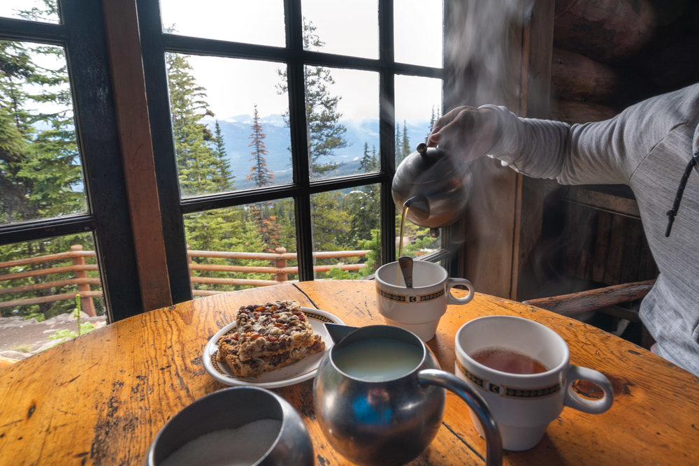 Enjoying a freshly brewed pot of tea