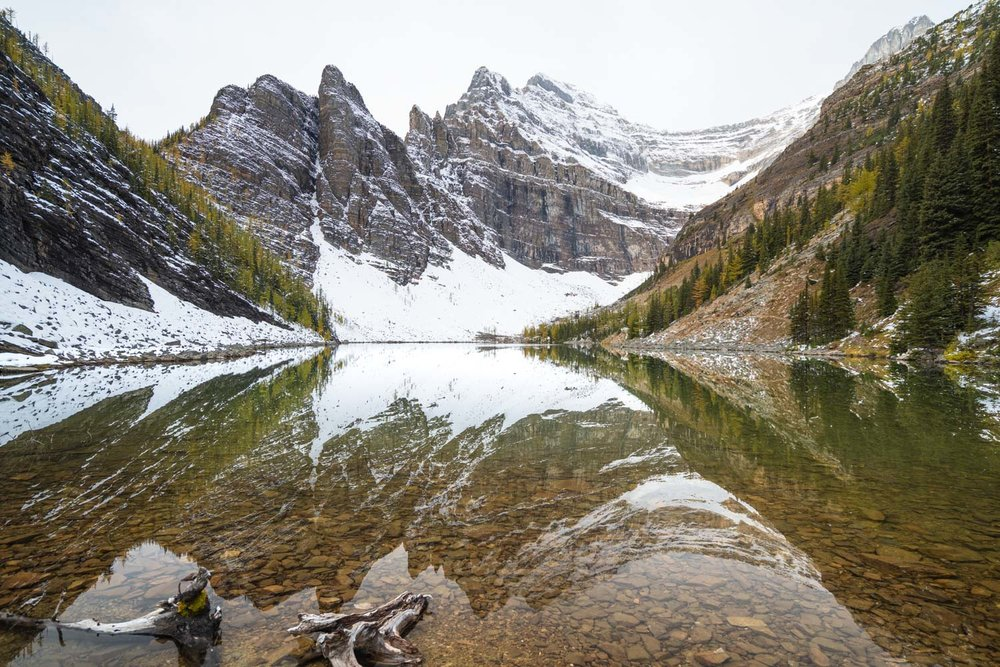 Perfect reflections at Lake Agnes