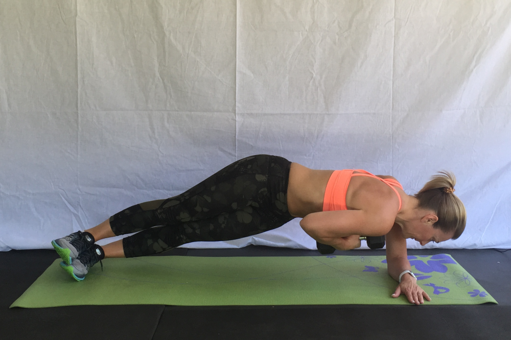 SIDE PLANK ROTATION WITH WEIGHT  © KD Fitness 2016