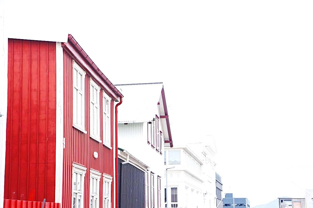 Corrugated metal is a popular design choice in Reykjavik's city center