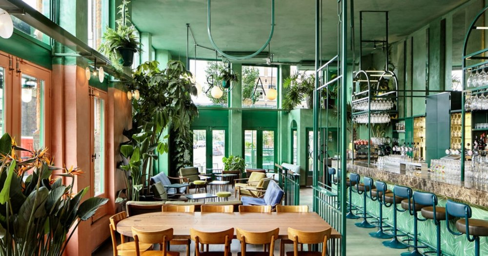 Bar Botanique via  The Spaces