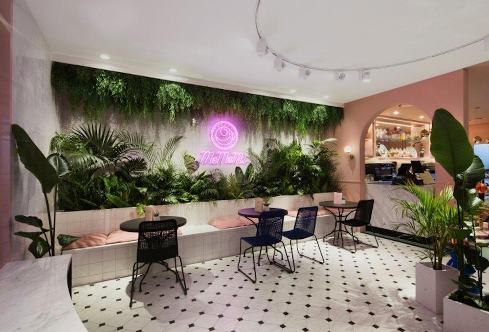 MeMeMi Cafe via  Retail Design Blog