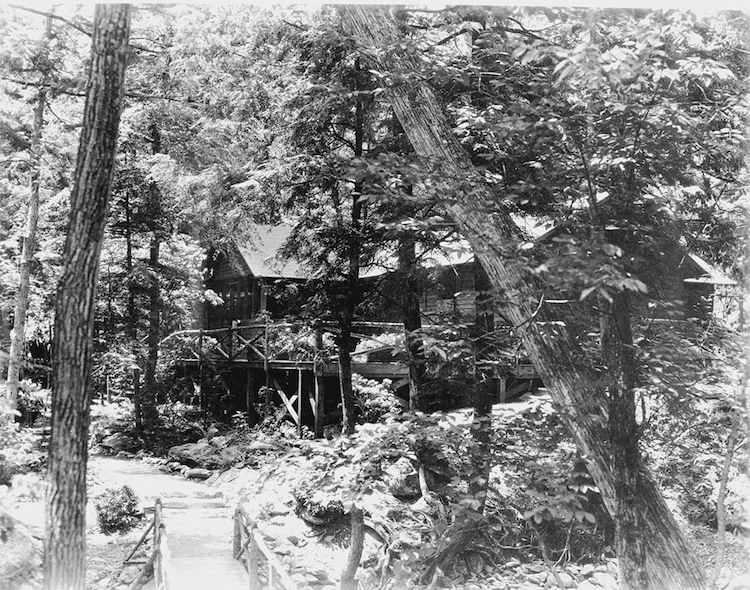 Camp Rapidan, via  Wikimedia Commons .