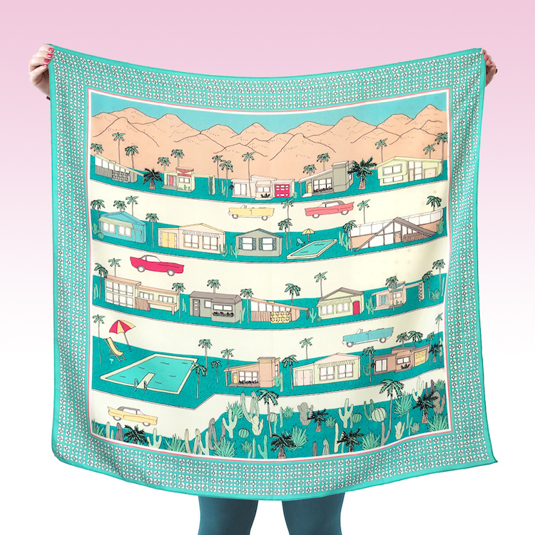 McKean Studio's Palm Springs scarf