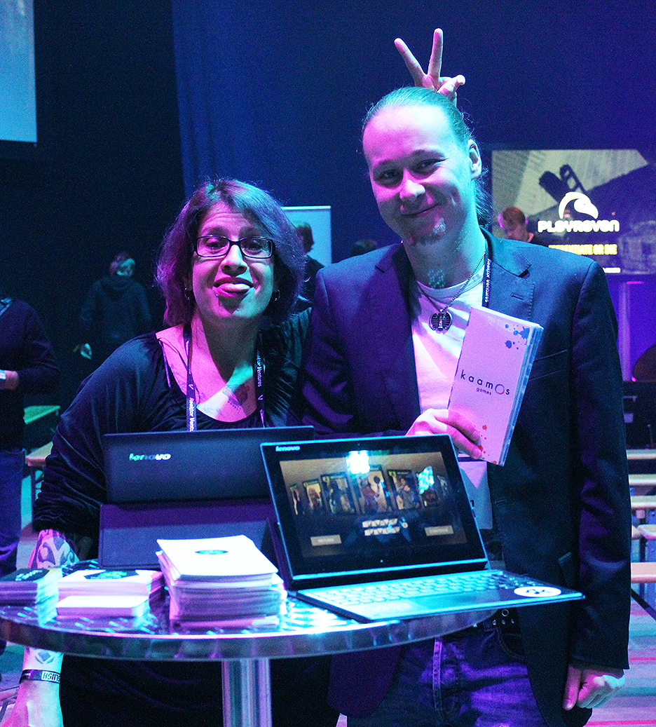 Neogames and Oulu Game LAB at the   Slush pop-up demo area